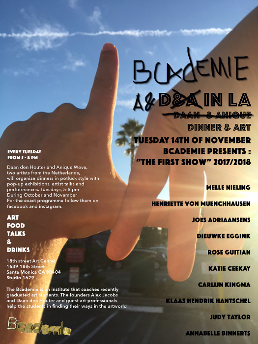 flyer6 1kl D&A in LA present The Bcademie