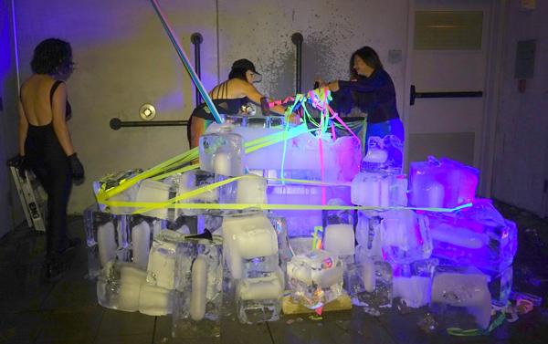 ice sculpture Art, Ice & Lies