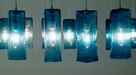 Jorge Pardo, Untitled, 1999, 70 glass lamps, courtesy of the artist and Petzel, New York