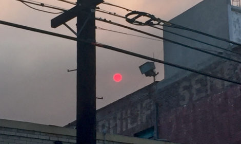 Laura London, Environmental Fires Sunset, Downtown Los Angeles, June 4, 2016