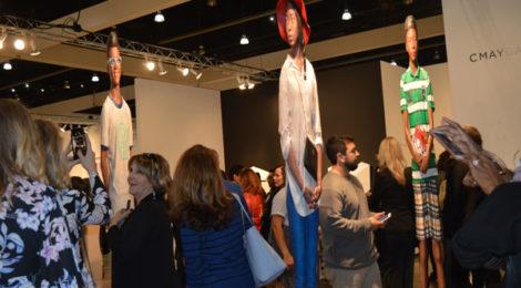 Opening night at last year's LA Art Show. Photos by Lynda Burdick.