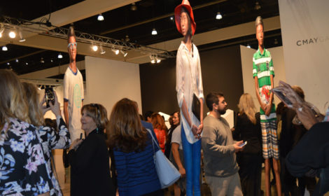 Opening night at last year's LA Art Show. Photos by Lynda Burdick.