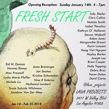 Fresh Start Flyer Artillery Fresh Start art exhibition