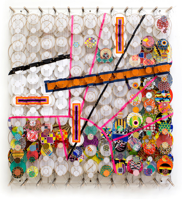 Jacob Hashimoto These Strange Galactic Monsters for Whom Creation is Destruction 2017 web Design Crosses Art: SF Art Fairs
