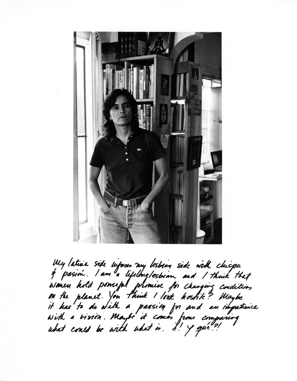 Laura Aguilar LatinaLesbians 1987 Yolanda Axis Mundo ONE Archives Axis Mundo: Queer Networks in Chicano L.A.