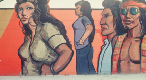 details from Sergio O'Cadiz' Moctezuma, Fountain Valley Mural, 1974–76; destroyed 2001; Calle Zaragoza, Colonia Juarez, Fountain Valley.