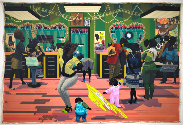 Kerry James Marshall, School of Beauty, School of Culture, 2012, collection of the Birmingham Museum of Art, photo by Sean Pathasema.