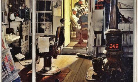 Norman Rockwell, Shuffleton's Barbershop, 1950