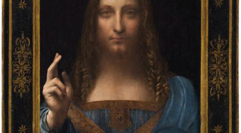 Leonardo da Vinci, Salvator Mundi, c.1500, oil on walnut, 25.8 x 19.2 in.
