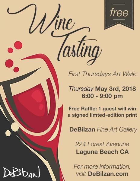 Free Wine Tasting At The Debilzan Fine Art Gallery In Laguna Beach