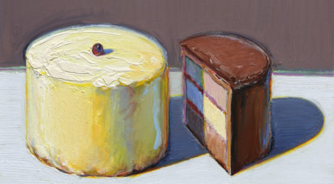 Wayne Thiebaud, One and a Half Cakes, 1981