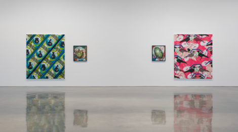 """Installation view of Lari Pittman, """"Portraits of Textiles & Portraits of Humans"""" at Regen Projects, Los Angeles. September 15 – October 27, 2018. Photo: Brian Forrest, Courtesy Regen Projects, Los Angeles"""