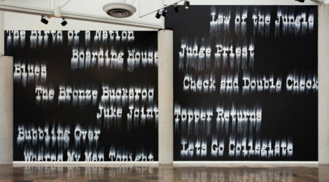 Gary Simmons: Fade to Black at the California African American Museum. Photo: Brian Forrest