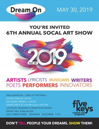 2019 Five Keys SoCal Art Show Flyer page 001 3 Five Keys Presents 6th Annual SoCal Art Show