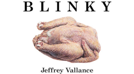 Cover, Jeffrey Vallance's reprinted edition of Blinky the Friendly Hen.