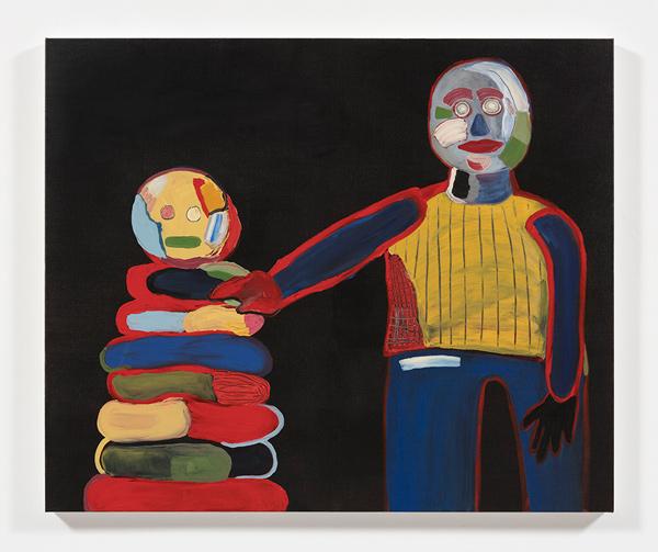Gabby Rosenberg, Glitch Heavy (2019). Acrylic on canvas, 40 x 48 inches. Courtesy of the artist and Steve Turner LA.