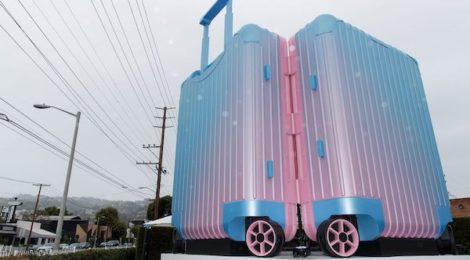 Alex Israel's RIMOWA installation at La Cienega & Melrose, 2019.