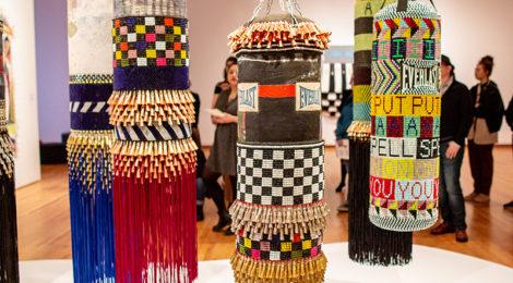Jeffrey Gibson, Like a Hammer, installation view (2019) photo by Natali Wiseman, © Seattle Art Museum.