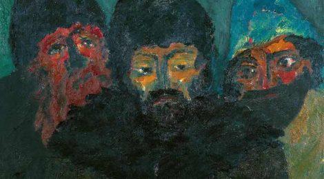 """Emil Nolde, """"Three Russians,"""" 1914"""