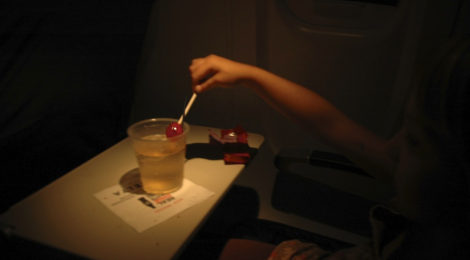 Ode to Eggleston, Shirley Temple on a Plane, circa 2011