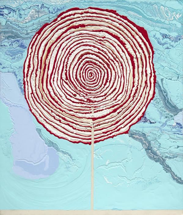 Rodney McMillan, Lollipop, (2001-2002), 78 1/4 x 68 in, latex on canvas.