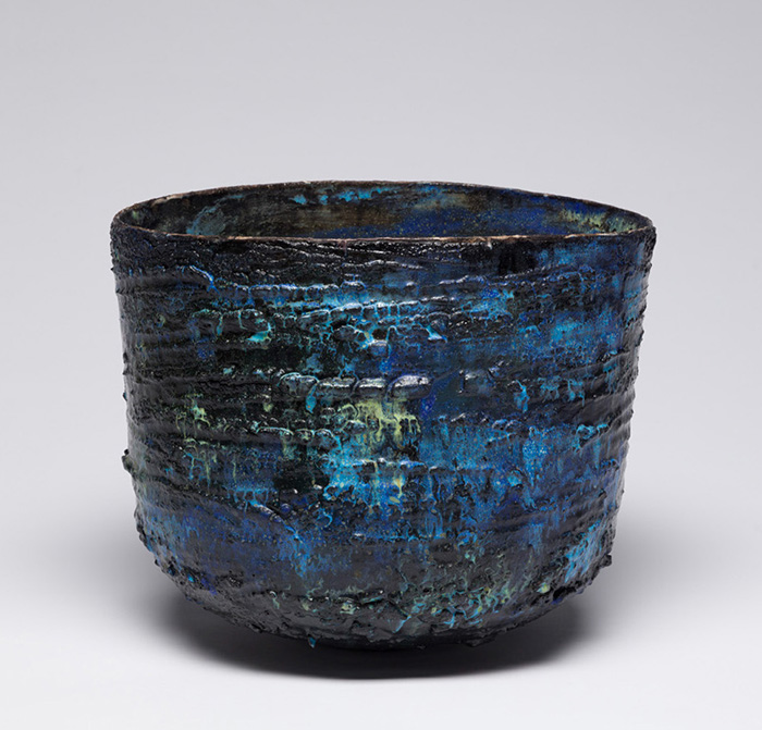 Web JKV176 Jay Kvapil Pinched Vessel 1525 2019 Glazed ceramic 11 x 14 inches Diane Rosenstein Gallery <ns>Events</ns>