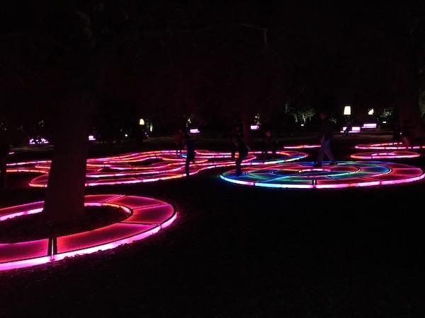"""Enchanted Forest of Light"" atDescanso Gardens."